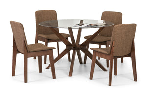 Kensington Round Glass Dining Table & 4 Chairs - Property Letting Furniture