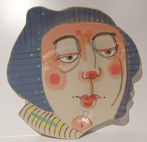 "KEVIN COLLINS CERAMIC PLATE ""MINNIE THE MOOCHER"""