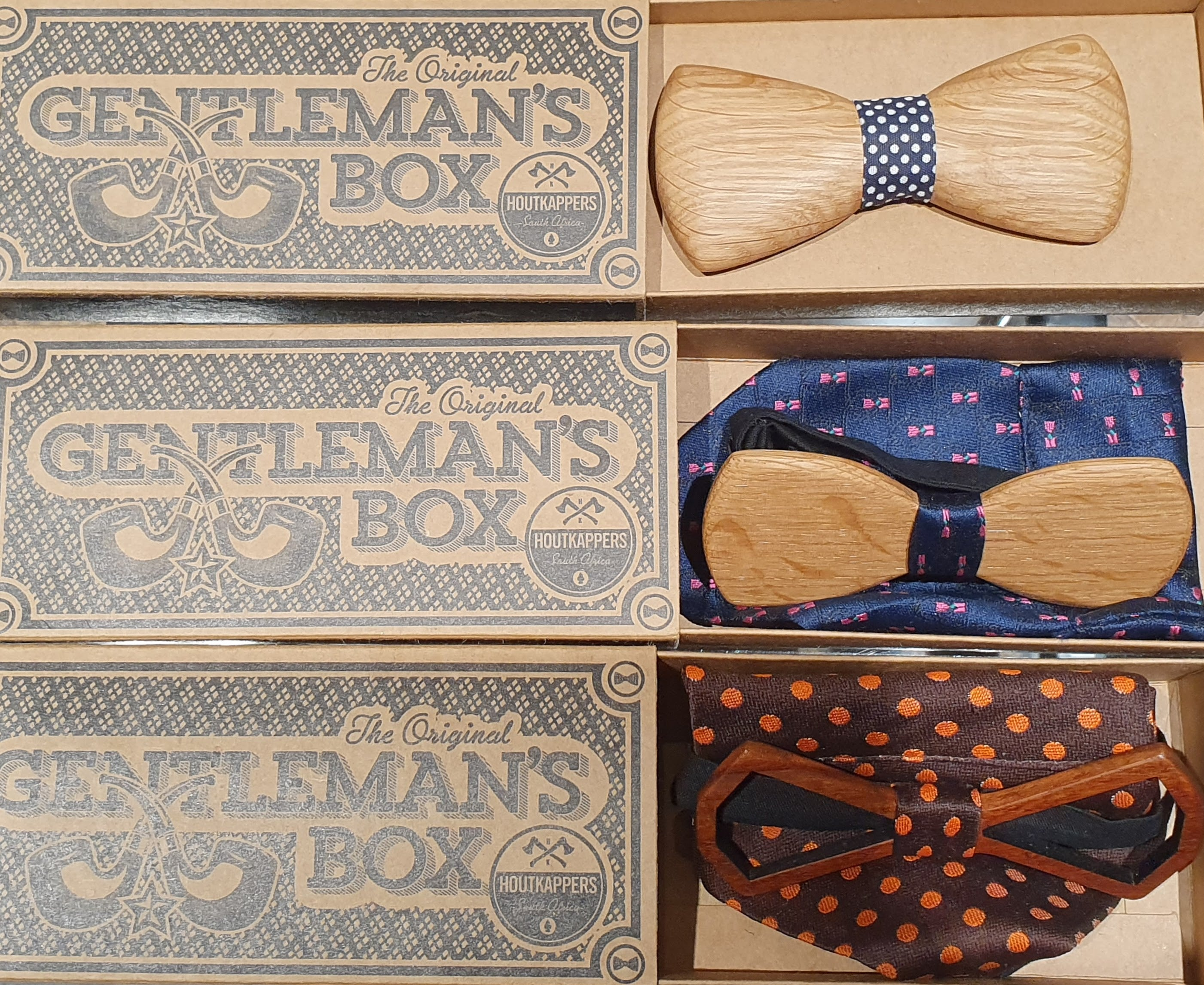 HOUTKAPPERS WOODEN BOW TIES