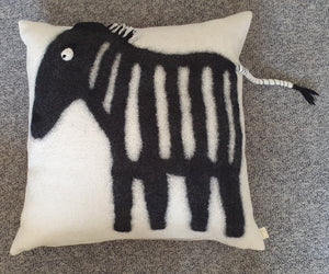 FELT CUSHION COVER. ZEBRA