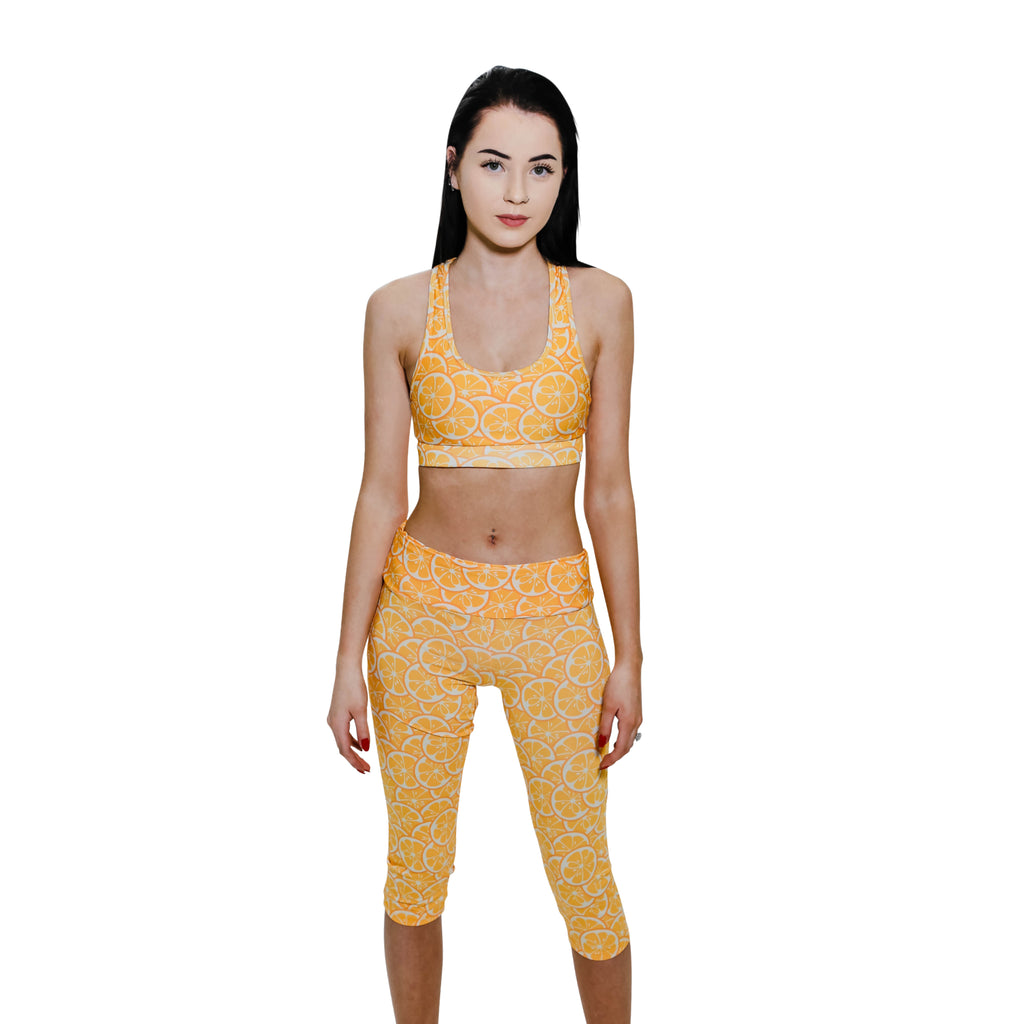 Orange Slice Leggings & Sports Bra