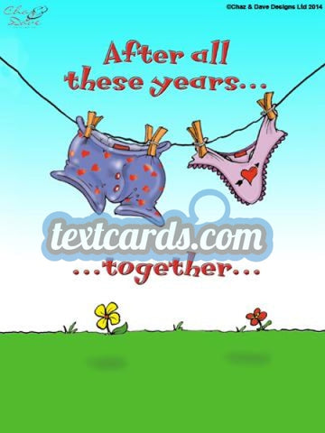 All These Years Together... Textcard