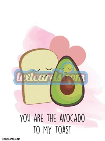 Avocado Love Textcard