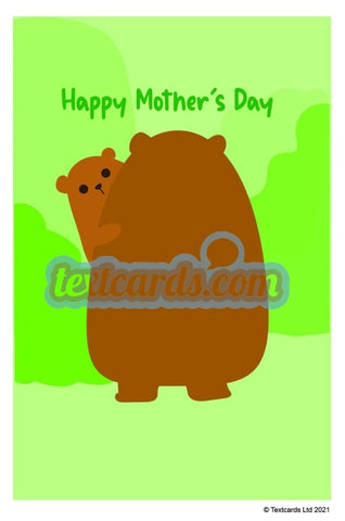 Bear Hug Mothers Day Textcard