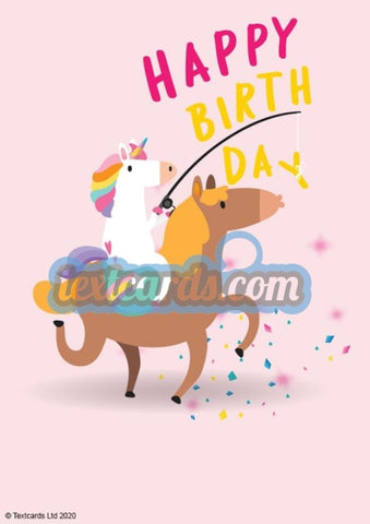 Birthday Unicorn Textcard