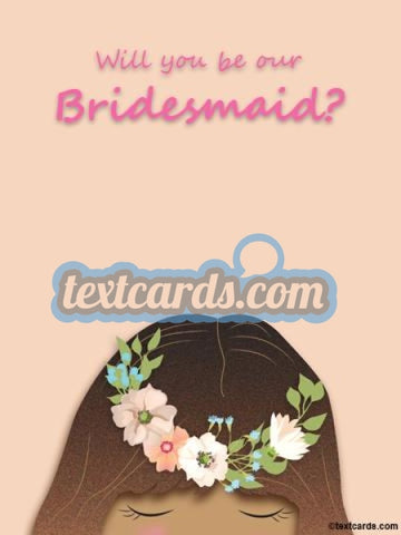 Bridesmaid Textcard