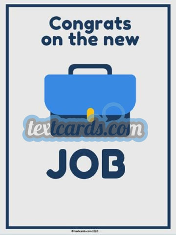 Congrats New Job Textcard