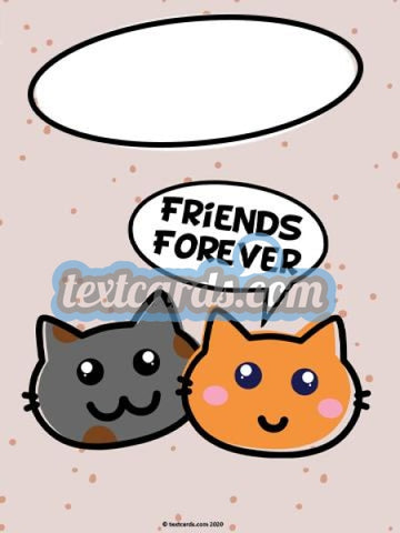 Friends Forever Textcard