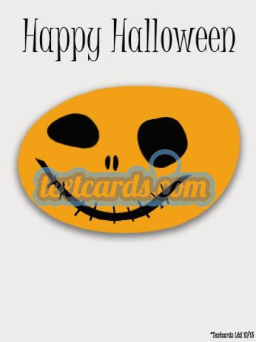 Halloween Pumpkin Head Textcard