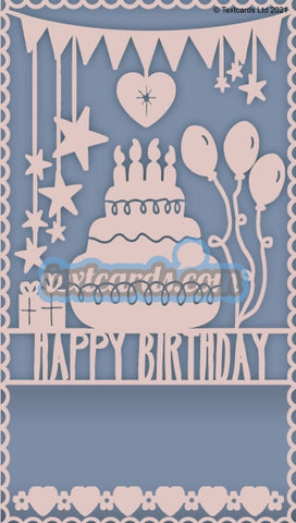 Happy Birthday Blue Textcard