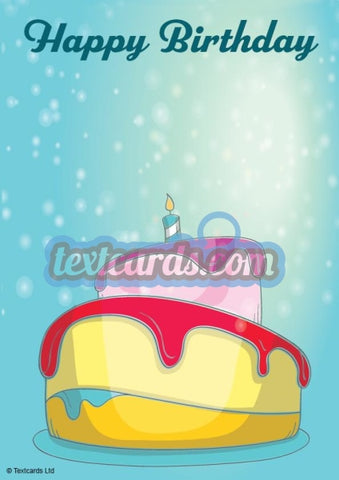 Happy Birthday Cake Textcard