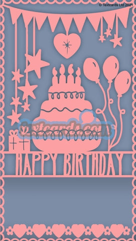 Happy Birthday Pink Textcard