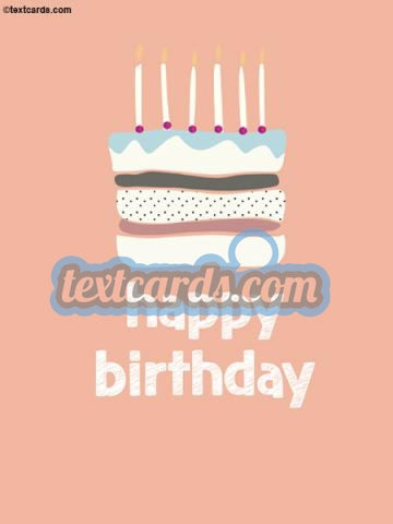 Happy Birthday Textcard