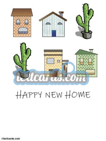 Happy New Home Textcard