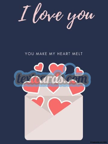 Love You Textcard
