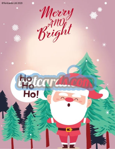 Merry And Bright Textcard