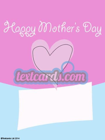 Mothers Day Pink Textcard