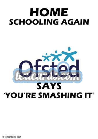 Ofsted Smashing It Textcard