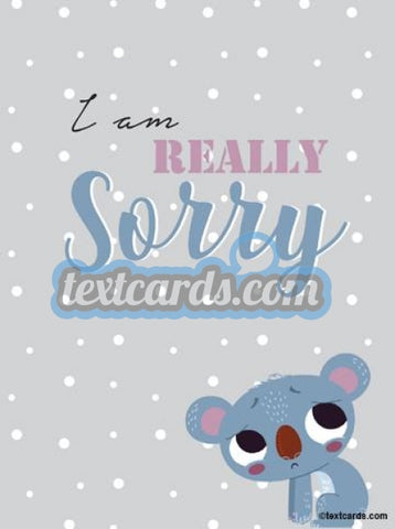 Really Sorry Textcard