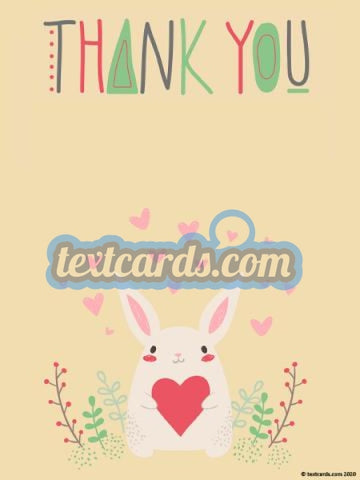 Thank You Textcard