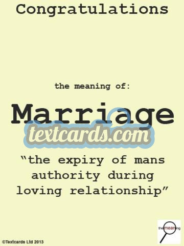 The Meaning Marriage Textcard