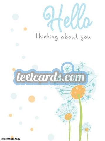 Thinking About You Textcard