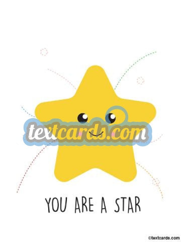 Your A Star Textcard