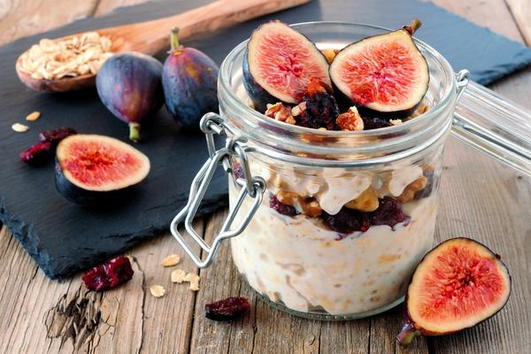 Overnight Oats with Figs, Cranberry's and Walnuts