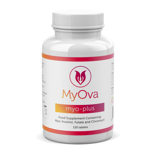 MyOva myo-plus Myo-Inositol, Folate & Chromium Supplement - 120 tablets - Made in the USA