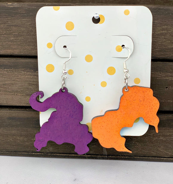 Sanderson Sisters Wooden Earrings