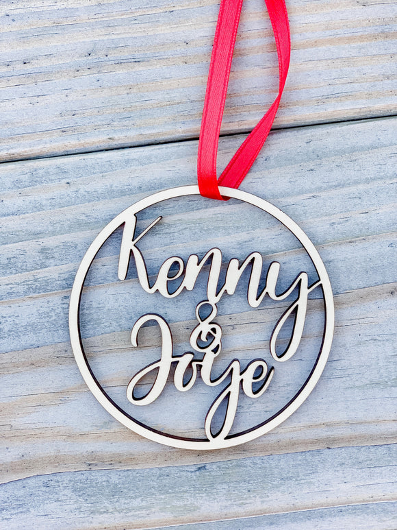 Personalized Farmhouse Style Christmas Ornaments