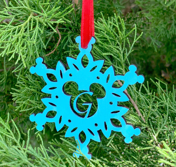 Personalized Mickey Snowflake Ornament