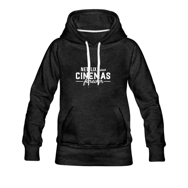 Cinemas Forever Hoodie (Women) - charcoal gray