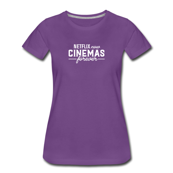 Cinemas Forever Tee (Women's) - purple