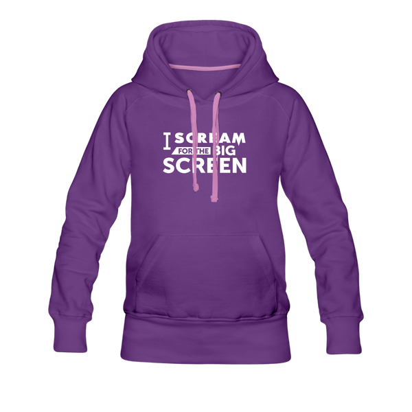 Big Screen Hoodie (Women) - purple