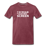 Big Screen Tee (Men) - heather burgundy