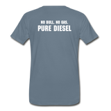 DF NO GAS Men's Premium T-Shirt - steel blue