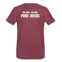 DF NO GAS Men's Premium T-Shirt - heather burgundy