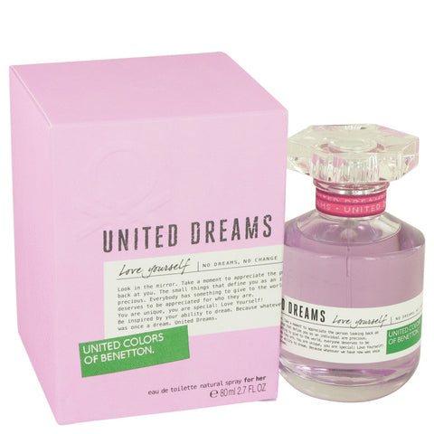 United Dreams Love Yourself Perfume by Benetton Eau De Toilette Spray For Women