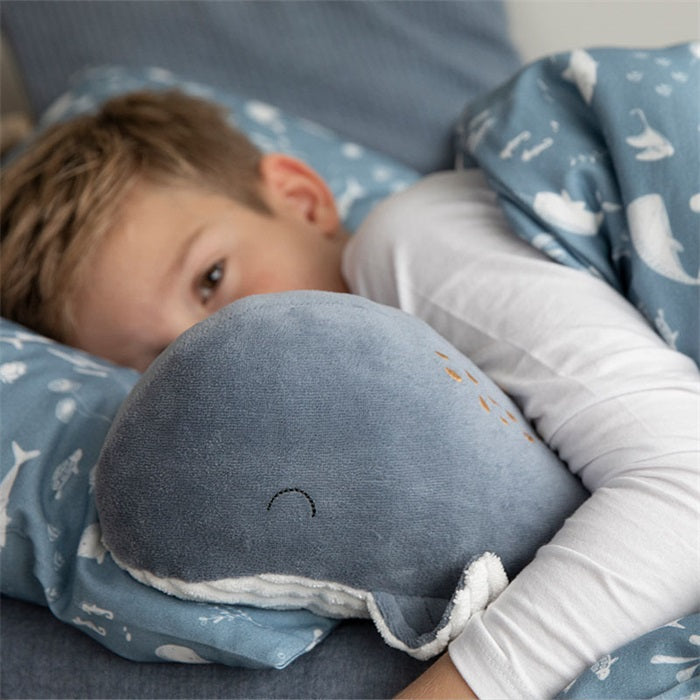 Peluche grande baleine Bleue - Little dutch