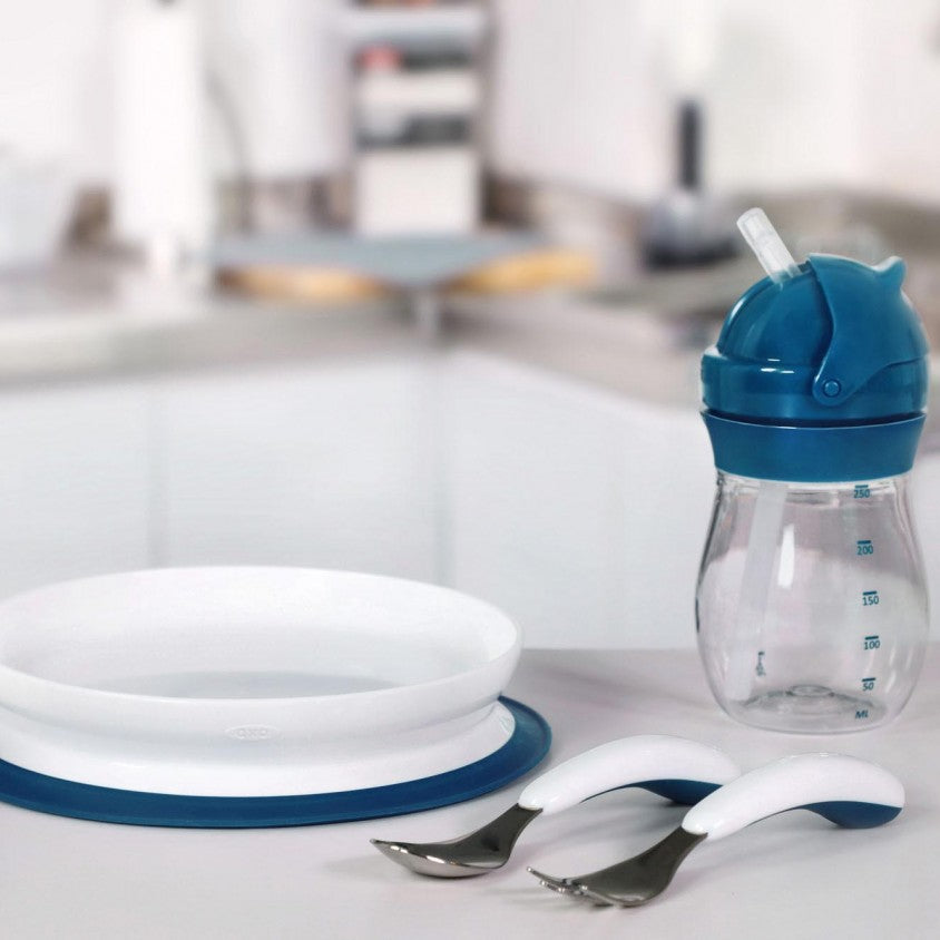 Assiette Stick & Stay Navy - OXO TOT