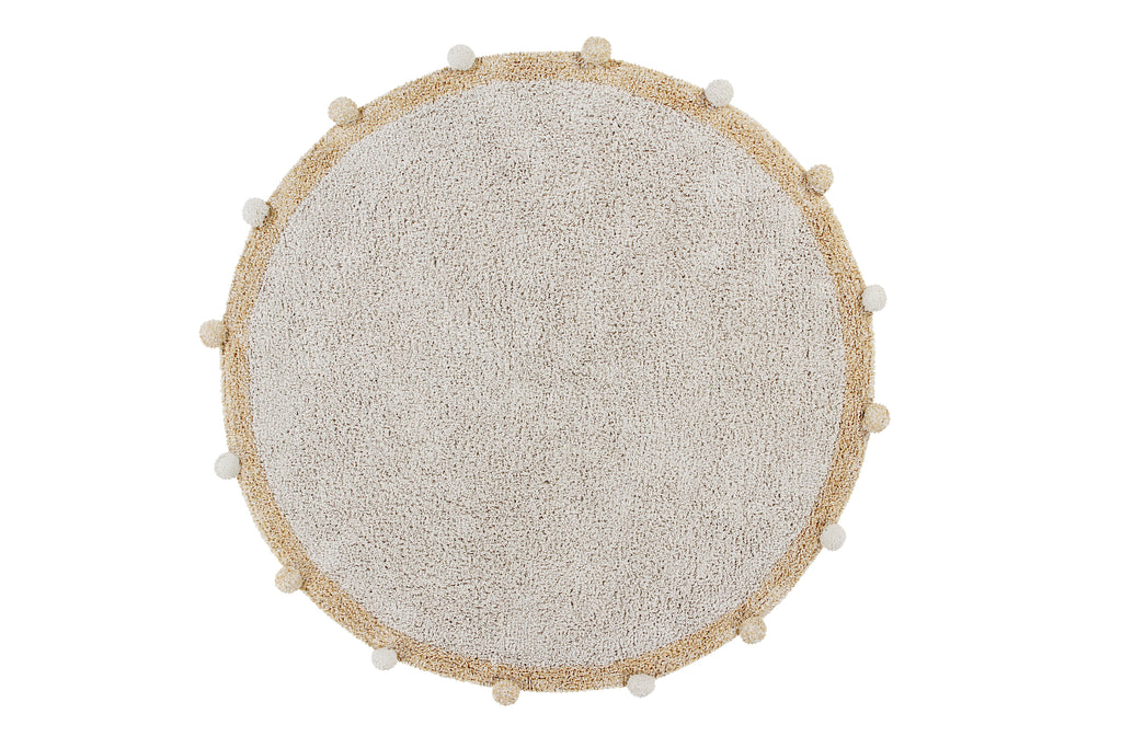 Tapis lavable Bubbly natural Honey - Lorena Canals