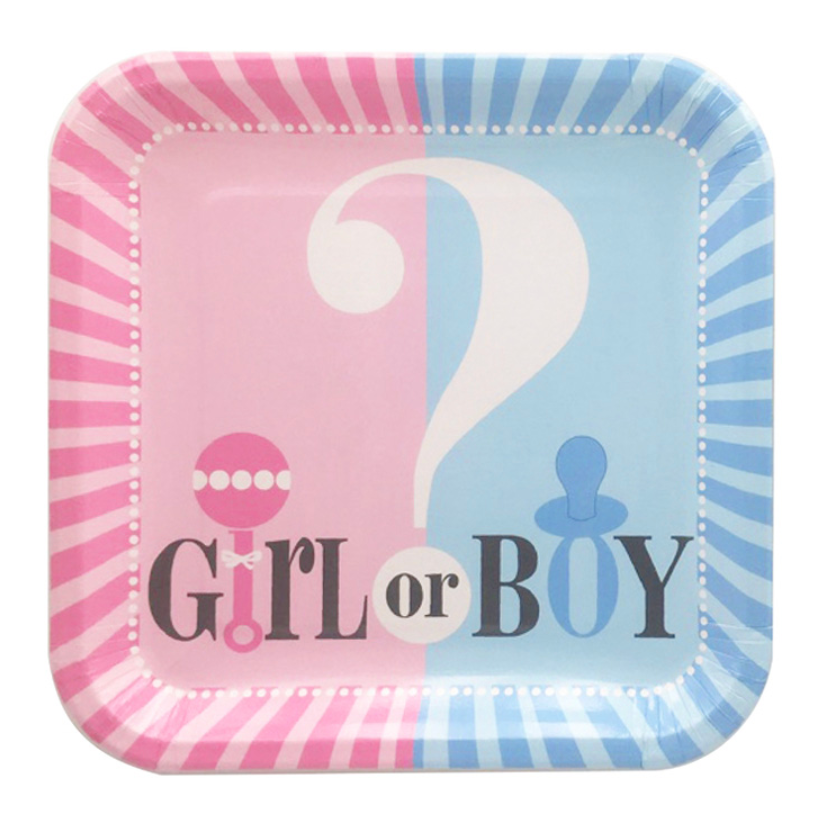 Assiettes Boy or Girl - 8 pcs