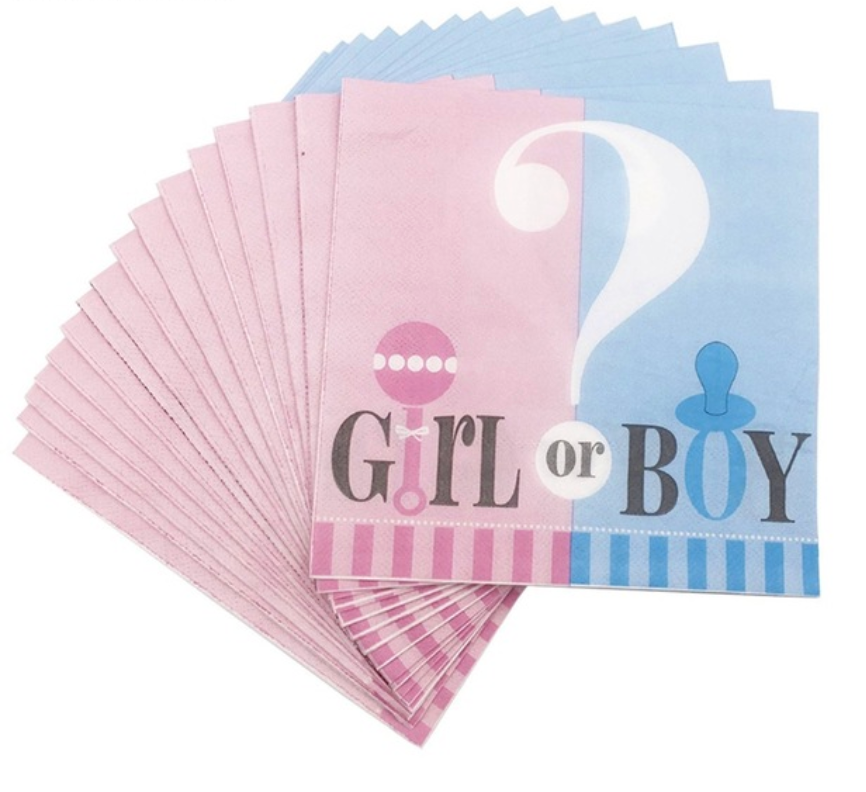Serviettes Boy or Girl - 16pcs