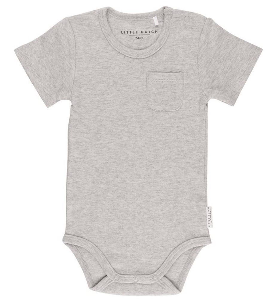 Body manches courtes Gris - Little Dutch