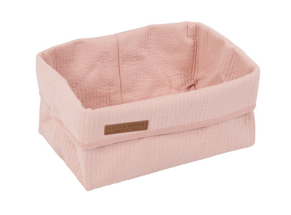 Grand panier de rangement Pure Pink - Little dutch