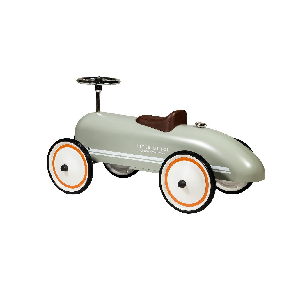 Retro Roller Voiture Olive - Little Dutch