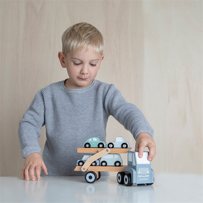 Camion transporteur Bleu - Little Dutch