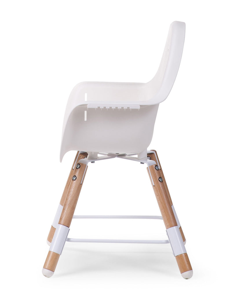 Chaise haute évolutive Evolu2 - Naturel / Blanc