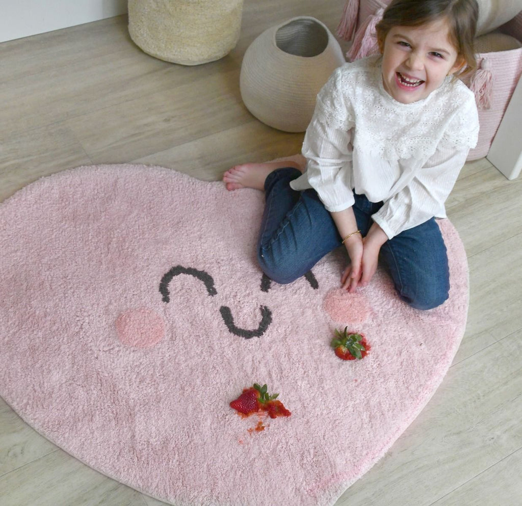 Tapis lavable Happy Heart